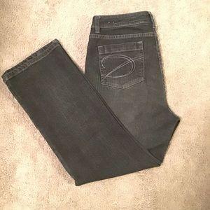Chico's Platinum Facet SH Jean Black Washed Jean